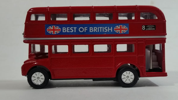 Best of British TC 35883 Route Master Double Decker Bus Red Pullback Friction Motorized Die Cast Toy Car Vehicle