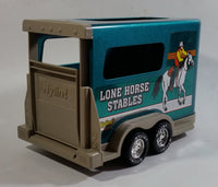 Hard to Find 1996 Nylint Chevrolet Tahoe Lone Horse Stables Truck and Trailer Emerald Green 1/18 Scale Pressed Steel and Plastic Toy Car Vehicle Set