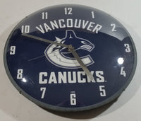"Vancouver Canucks NHL Ice Hockey 14"" Round Dome Wall Clock - Man Cave - Games Room"