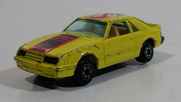 Yatming Ford Mustang Pace Car No. 1028 Yellow Die Cast Toy Muscle Race Car Vehicle