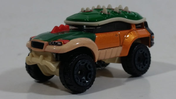 2016 Hot Wheels Nintendo Character Cars Bowser Green and Orange Die Cast Toy Car Vehicle