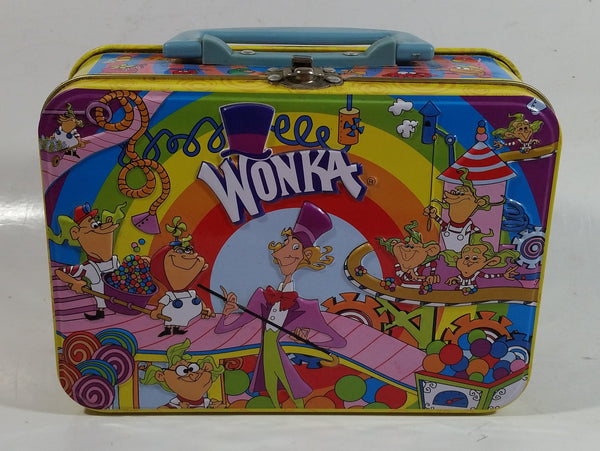 Willy Wonka's Candy Factory Embossed Tin Metal Lunch Box
