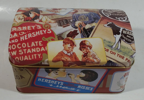 1999 Hershey's Milk Chocolate Kisses Advertising Tin Metal Hinged Container
