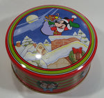 The Walt Disney Company Mickey Mouse Cartoon Character Christmas Themed Round Tin Metal Container