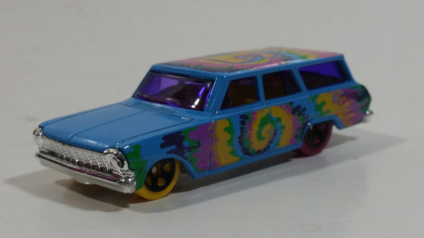 2012 Hot Wheels HW Art Cars '64 Chevy Nova Station Wagon Gloss Blue Die Cast Toy Car Vehicle