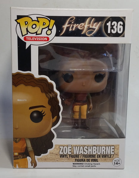 2014 Funko Pop! Television Firefly #136 Zoe Washburne Toy Collectible Vinyl Figure in Box