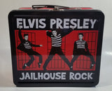 E.P.E. Elvis Presley Jailhouse Rock Red and Black Tin Metal Lunch Box