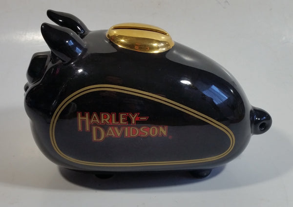 2002 Harley Davidson Motorcycles Gas Tank Pig Hog Shaped Black Piggy Bank Coin Bank