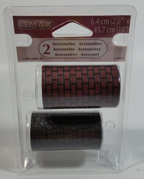 2003 Lemax 1 Roll of Red Brick and 1 Roll of Cobblestone 2 Accessories #34917 New in Package