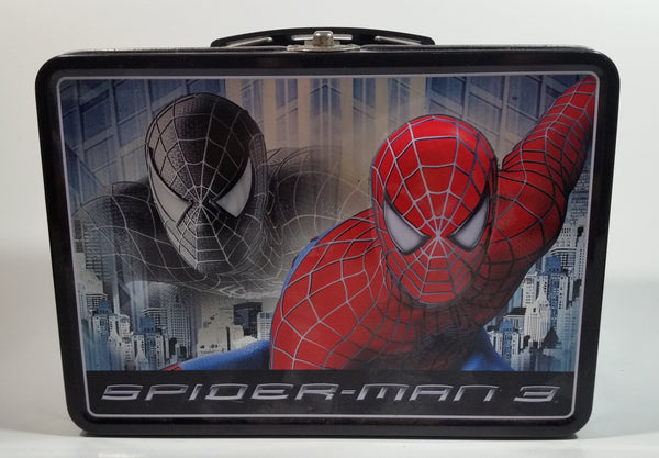2007 Marvel Spider-Man 3 Movie 3D Embossed Tin Metal Lunch Box