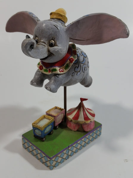 "Enesco Disney Traditions Walt Disney Showcase Collection Dumbo Above Circus ""Faith In Flight"" 4 1/2"" Tall Decorative Figurine #4010028"