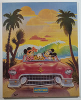 "Trends International The Walt Disney Company Mickey and Minnie Mouse In Classic Car ""Mick 'n Min"" 16"" x 20"" Hardboard Plaque"