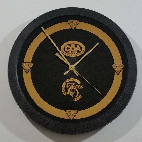 Rare 1992 C.A.A. Canadian Automobile Association Saskatchewan 75th Anniversary Circular Clock