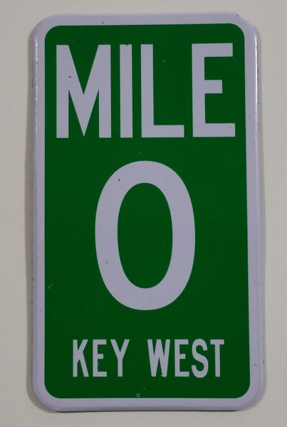 Mile 0 Key West Florida Highway Sign Style Fridge Magnet Souvenir Travel Collectible