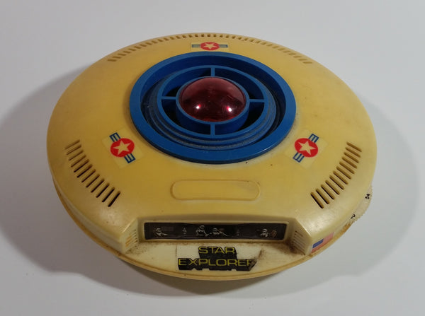 Vintage 1977 Califax Star Command Star Explorer UFO Disc Shaped Space Craft Toy AM Transistor Radio Parts or Repair