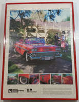 "United Technologies Inmont R-M Rinshed-Mason Products 1958 Chevrolet Impala Red Restoration Advertisement 20 1/2"" x 28 3/4"" Framed Poster"