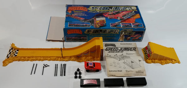 Vintage 1982 Knickerbocker The Dukes of Hazzard Speed Jumper Action Set with General Lee Motorized Friction Car In Box - Near Complete