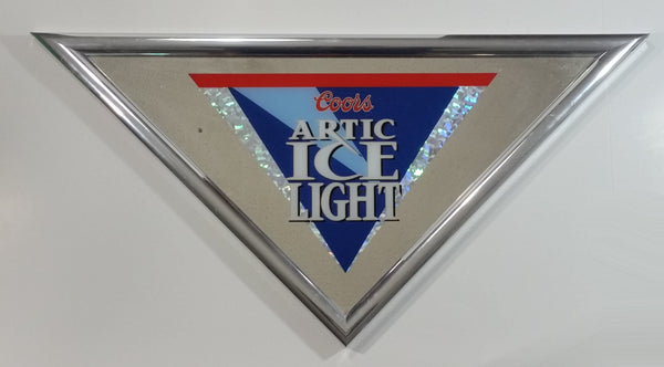 1995 Coors Brewing Co. Artic Ice Light Triangle Diamond Shaped Bar Pub Mirror