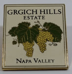 Grgich Hills Estate Napa Valley Square Metal and Enamel Lapel Pin Travel Collectible