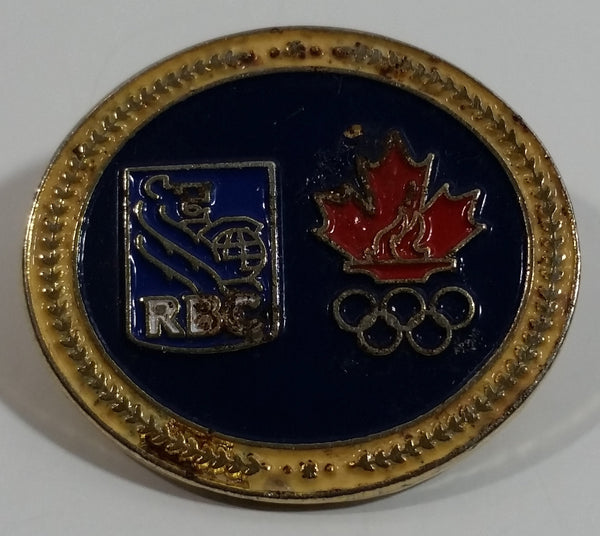 RBC Royal Bank of Canada Olympic Pin Sponsor Oval Shaped Enamel Metal Lapel Pin Souvenir Sports Collectible