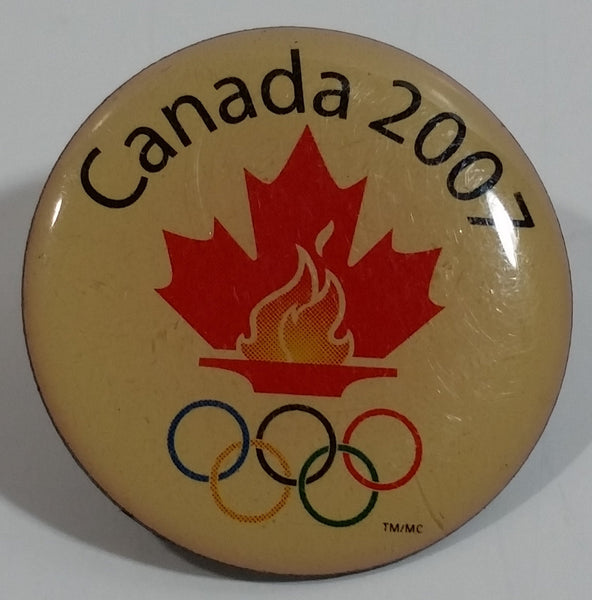 Canada 2007 Olympic Games Round Lapel Pin