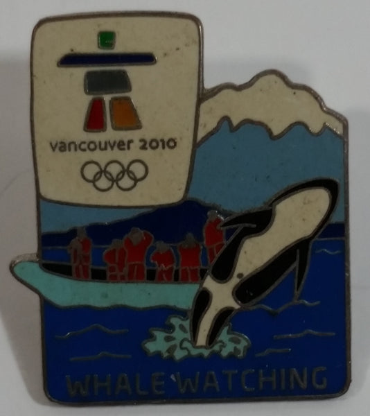 Vancouver 2010 Winter Olympic Games Whale Watching Enamel Metal Lapel Pin