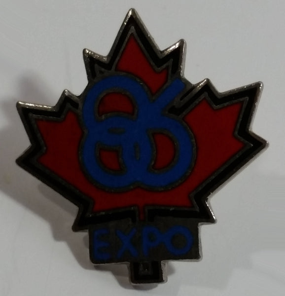 1986 Vancouver Exposition Expo 86 Maple Leaf Shaped Metal Lapel Pin