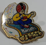 Harrah's Las Vegas Hotel and Casino Genie Riding Magic Carpet Themed Enamel Metal Lapel Pin