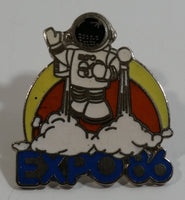 1986 Vancouver Exposition Expo 86 Ernie The Astronaut Wearing A Jet Pack Enamel Metal Lapel Pin