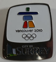 2010 Vancouver Winter Olympics Games City of Surrey Enamel Metal Lapel Pin