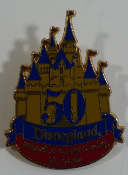 50th Anniversary Disneyland Happiest Homecoming On Earth Castle Themed Enamel Metal Lapel Pin