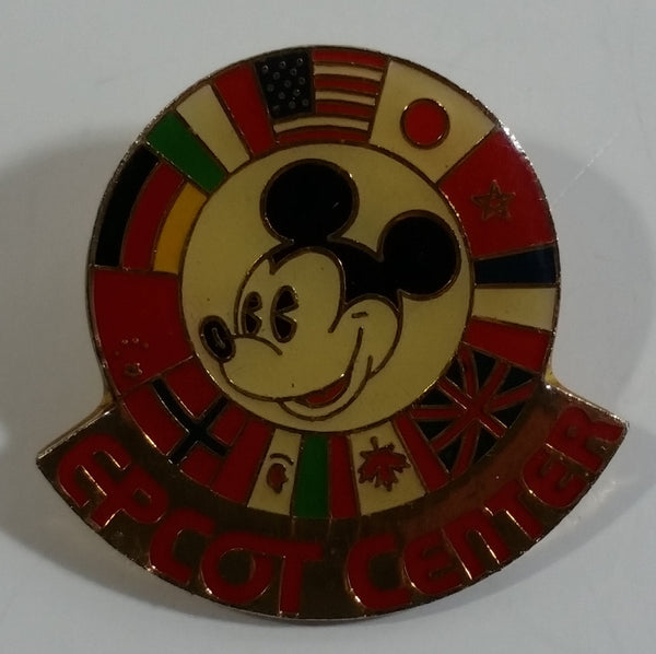 Epcot Center Mickey Mouse with World Flags Enamel Metal Lapel Pin