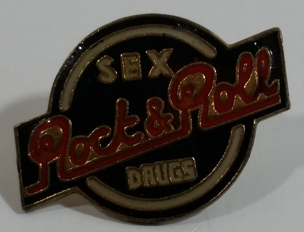 Sex Drugs Rock & Roll Enamel Metal Lapel Pin Music Collectible
