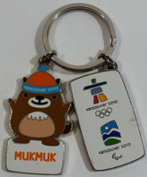 2010 Vancouver Winter Olympics Games Enamel and Metal Double Key Chain with Mukmuk Character Mascot