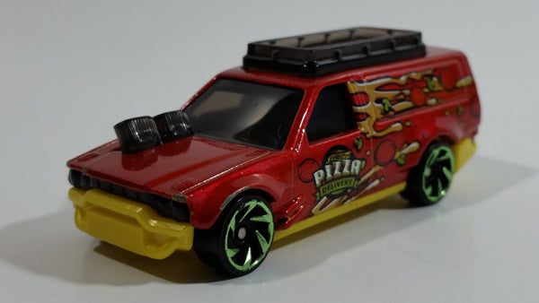 2018 Hot Wheels HW Metro Time Shifter Pizza Delivery Red Die Cast Toy Car Vehicle