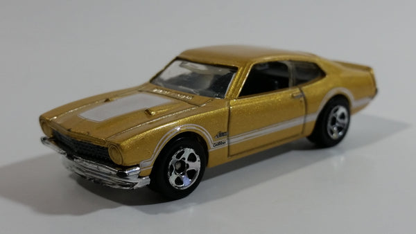 2010 Hot Wheels '71 Maverick Grabber Gold Die Cast Toy Muscle Car Vehicle