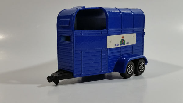 Vintage Corgi Rice Beaufort Double Horse Box Trailer RCMP Royal Canadian Mounted Police Dark Blue Die Cast Toy Car Vehicle
