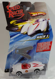2008 Hot Wheels Speed Racer Movie Mach 5 Saw Blades White Plastic Die Cast Toy Car Vehicle 5DOT - New in Package Sealed