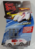 2008 Hot Wheels Speed Racer Movie Mach 5 Jump Jacks White Plastic Die Cast Toy Car Vehicle 5DOT - New in Package Sealed