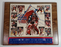 "1995-96 Colorado Avalanche Stanley Cup Champs PhotoFile Heavy Wood 10 1/2"" x 13"" Wall Plaque"