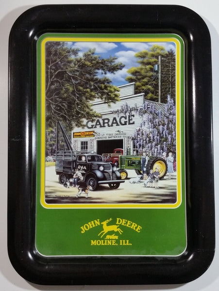 "2001 John Deere ""A Better Day with REA"" 1944 Tractor ""Garage"" Scene Metal Beverage Tray"