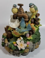 Heritage Mint Flower and Blue Bird Tea Cup Themed Musical Water Fountain