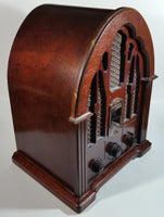 1989 GE General Electric Reproduction Wood Cased Cathedral AM/FM Radio 7-4100JA