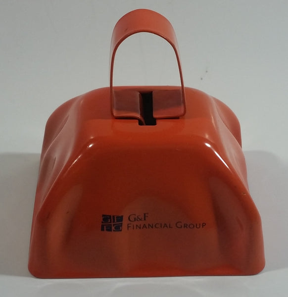 G&F Financial Group Orange Metal Bell Promotional Advertising Collectible
