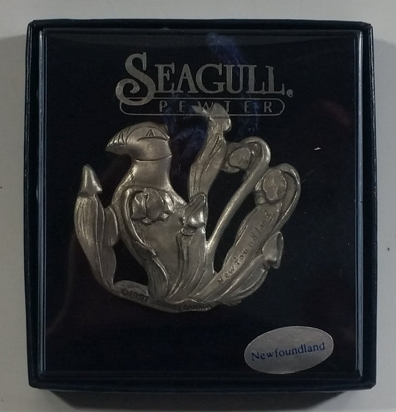 "1997 Seagull Canada ""Newfoundland"" Bird Themed Pewter Metal Hanging Ornament Souvenir Travel Collectible New in Package"