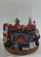 Santa Claus Christmas Themed Hurricane Candle Holder
