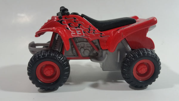 Maisto Quad ATV 4 Wheeler All Terrain Vehicle Red #33 Pullback Die Cast Motorized Friction Toy Car Vehicle