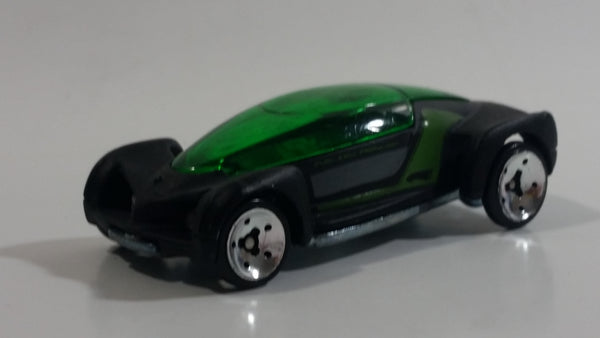 2008 Hot Wheels Hybrid Racers 2002 Autonomy Concept Black Die Cast Toy Car Vehicle with Removable Body