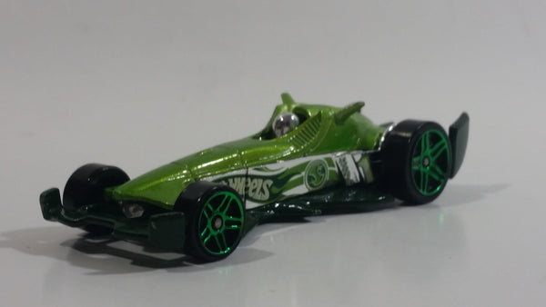 2008 Hot Wheels Hybrid Racers F-Racer Light Green Die Cast Toy Race Car Vehicle