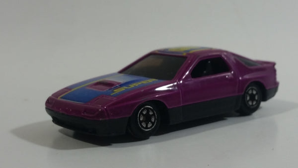 Yatming Mazda RX-7 Turbo Purple Super 8 No. 807 Die Cast Toy Car Vehicle